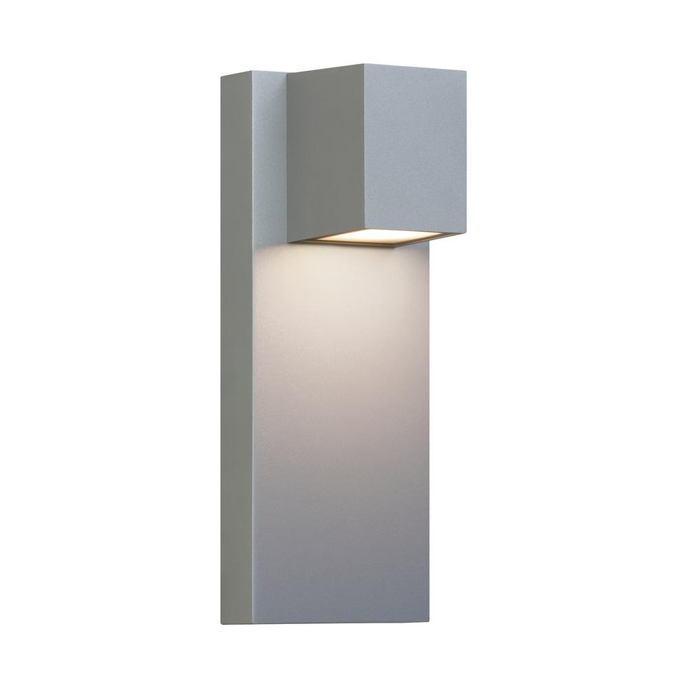 Lbl Lighting Quadrate 1 Light Graphite Outdoor 13 In Integrated Led Wall Lantern Sconce