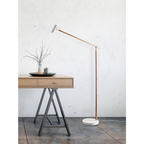 Adesso Ads360 Crane 60 5 In Integrated Led White Wood Floor Lamp Ad9101 12 The Home Depot