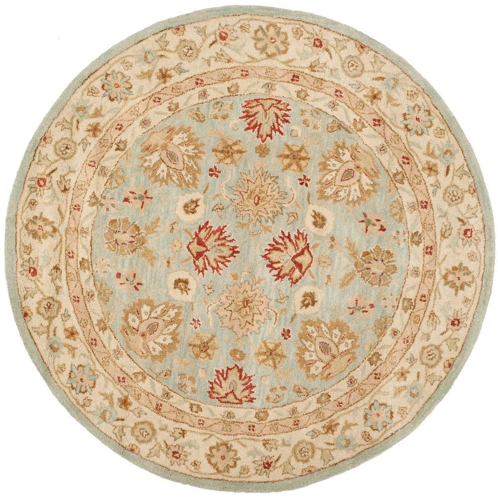 Safavieh Antiquity Grey Blue Beige 10 Ft X 10 Ft Round