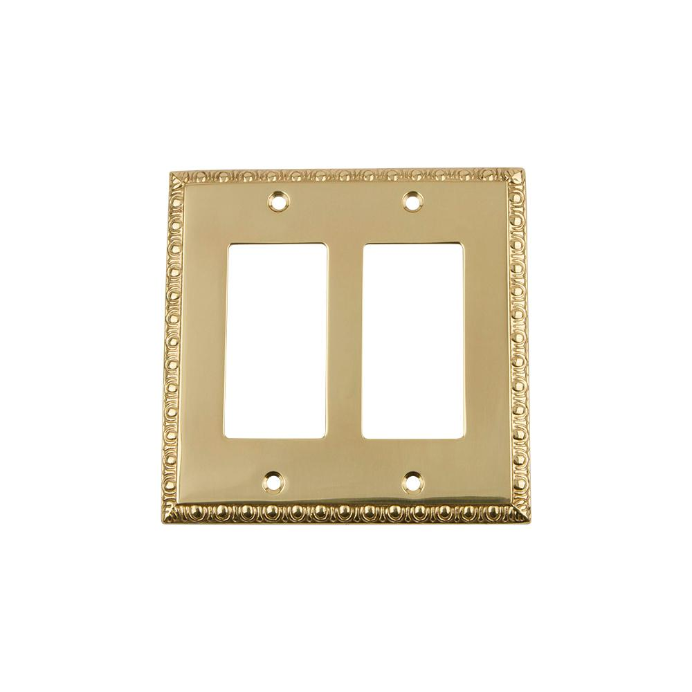 Nostalgic Warehouse Deco Switch Plate with Double Rocker in ...