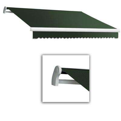 10 ft. Maui-LX Left Motor Retractable Acrylic Awning with Remote (96 in. Projection) in Olive/Alpine