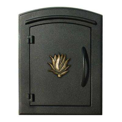 Black Non-Locking Column Wall Mount Mailbox