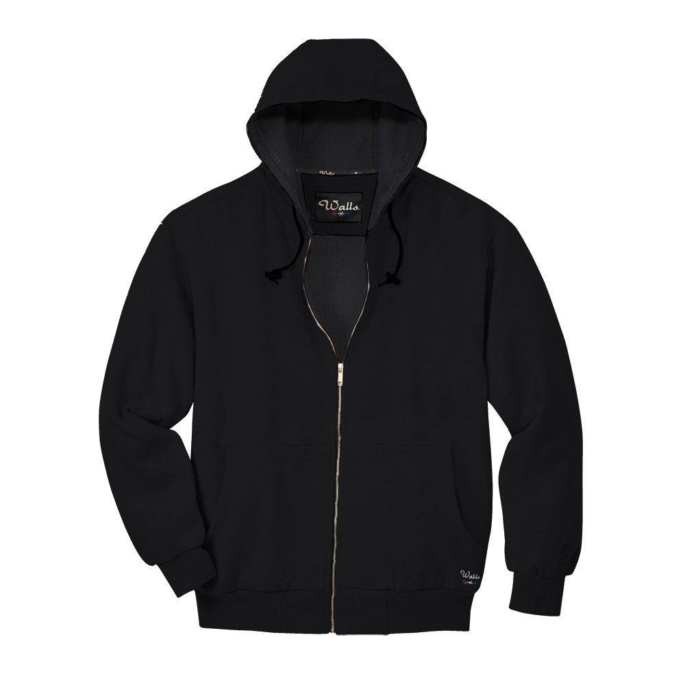 Walls Thermal Lined Fleece Medium Regular Jacket in Black