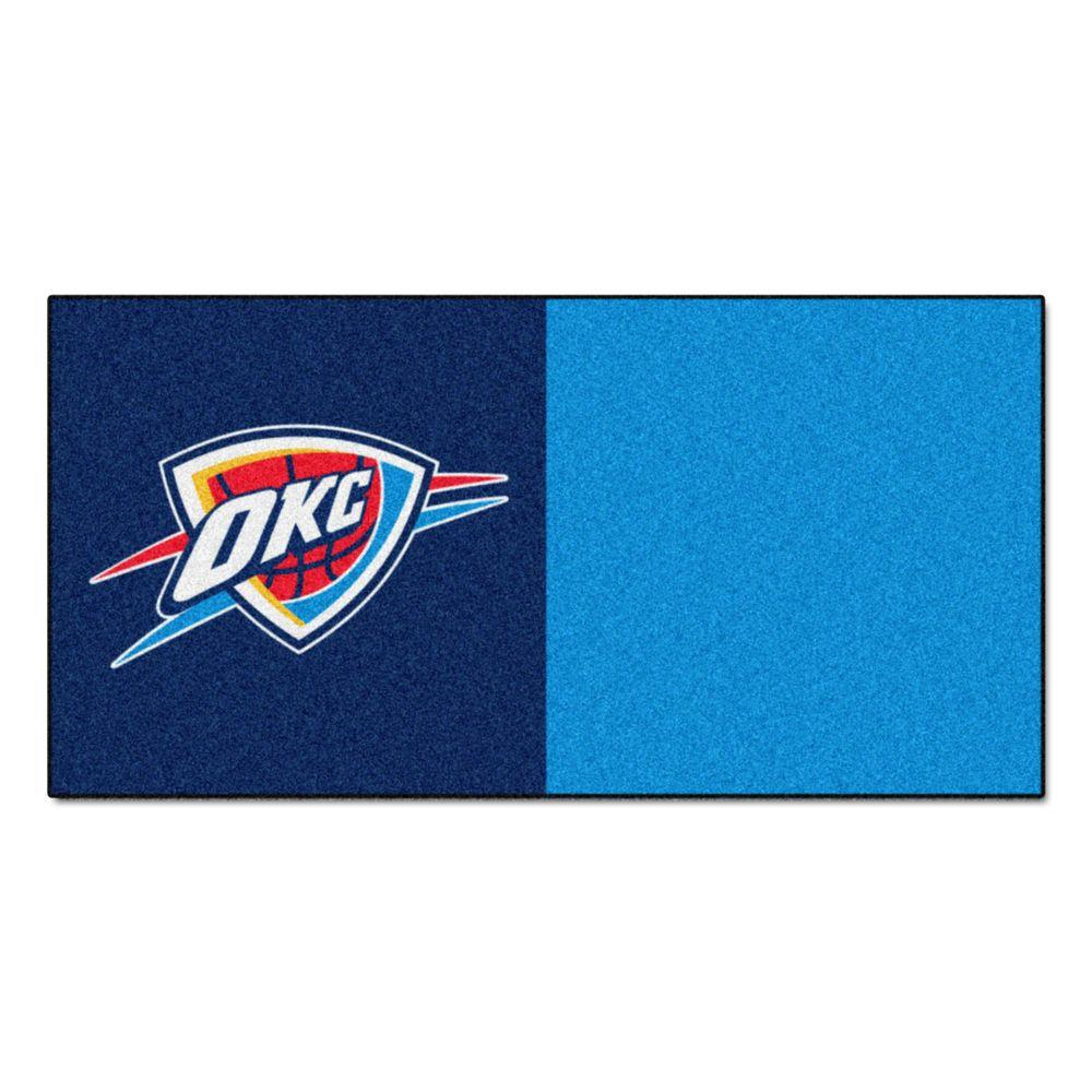 NBA Oklahoma City Thunder Blue and Light Blue Pattern 18 in.