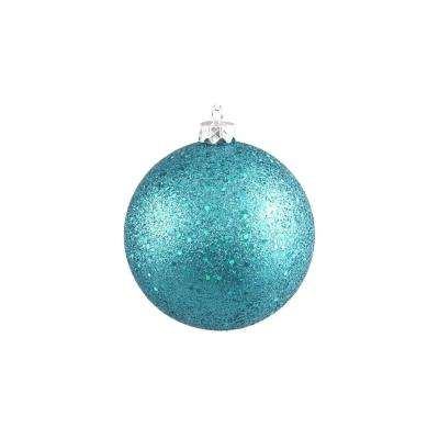 Turquoise Blue Holographic Glitter Shatterproof Christmas Ball Ornament