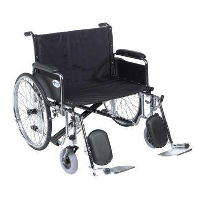 Sentra EC Heavy Duty Extra Wide Wheelchair, Detachable Full Arms, Elevating Leg Rests and 30 in. Seat