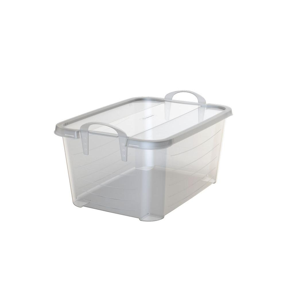 Superieur Life Story 55 Qt. Handled Storage Container In Clear