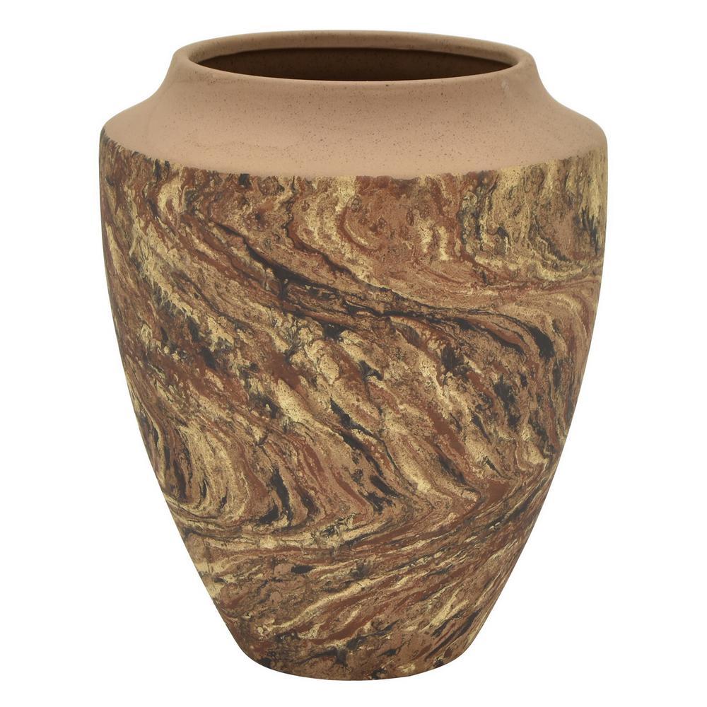 11 in. Brown Ceramic Vase