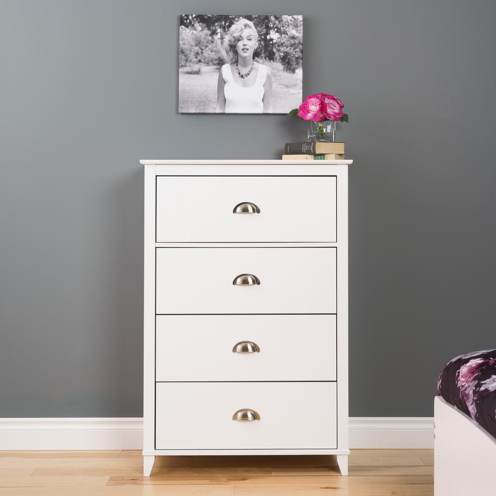 white bedroom dressers. Yaletown 4 Drawer White Chest  Dressers Chests Bedroom Furniture The Home Depot