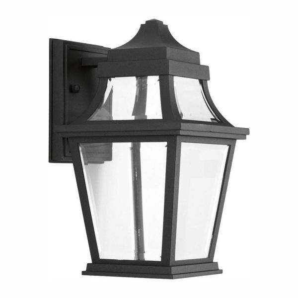 Endorse Collection 1-Light 12 in. Outdoor Black LED Wall Lantern Sconce