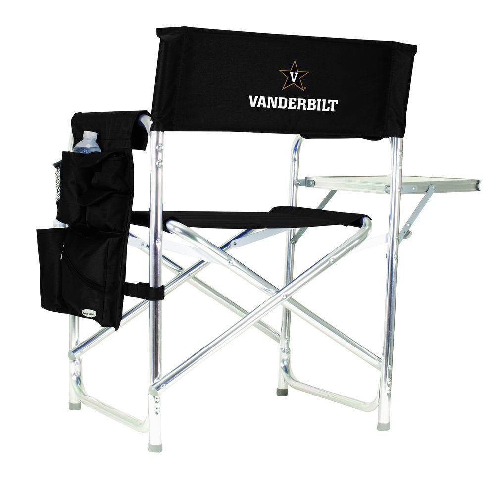 Vanderbilt University Black Sports Chair with Embroidered Logo