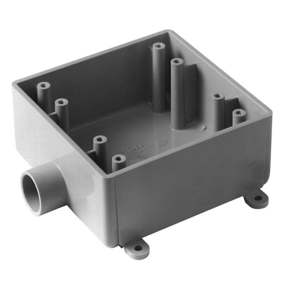 Carlon 2 Gang 32 cu. in. Type-FSE Switch Box - Gray (Case of 5)