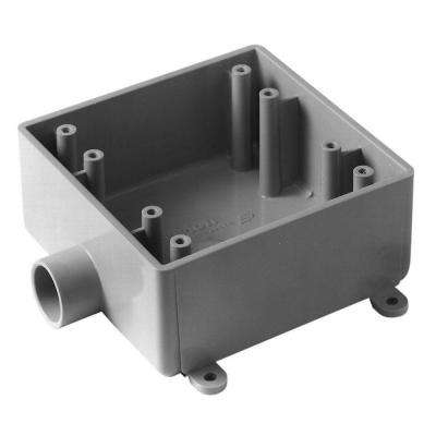 2 Gang 32 cu. in. Type-FSE Switch Box - Gray (Case of 5)