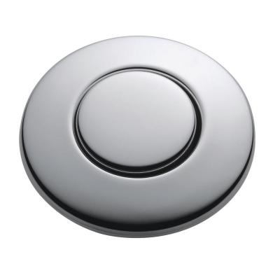 SinkTop Switch Push Button in Chrome for InSinkErator Garbage Disposals