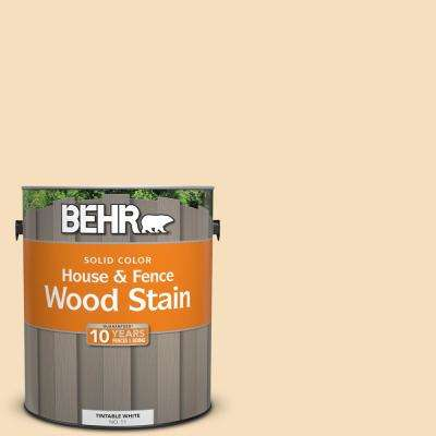 1 gal. #310E-2 Stable Hay Solid Color House and Fence Exterior Wood Stain