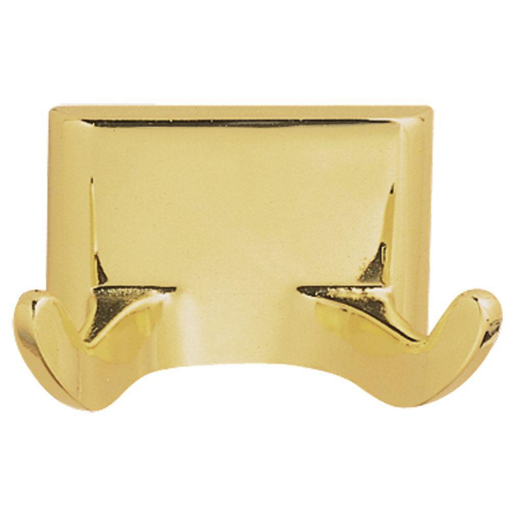 Millbridge Double Robe Hook in Polished Brass
