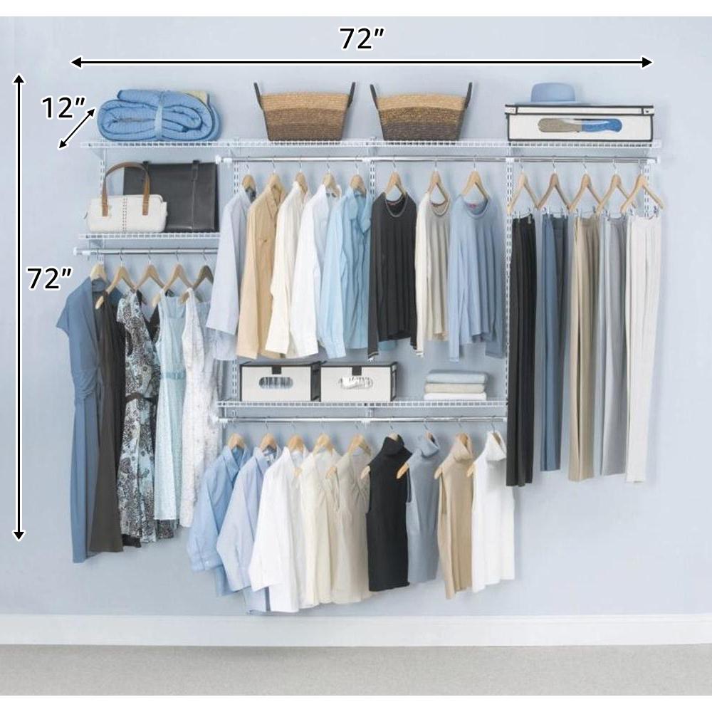 Configurations Custom Closet 3 - 6 ft. White Starter Kit