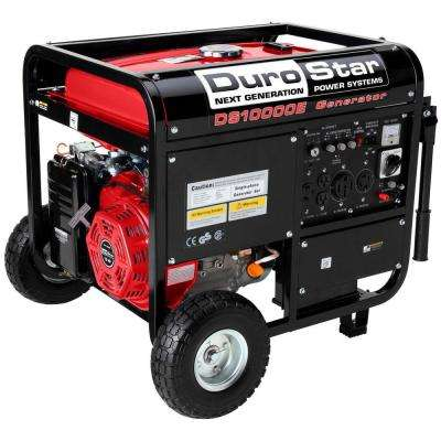 10,000-Watt Gasoline Powered Electric Start Portable Generator with Wheel Kit