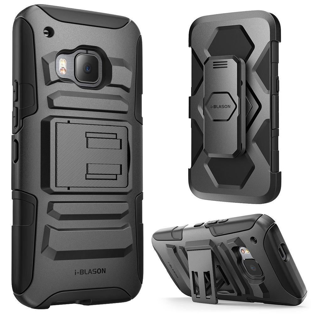 buy online a37ee a41f0 i-Blason Prime Dual Layer Holster Case for HTC One M9, Black