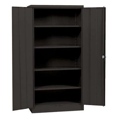72 in. H x 36 in. W x 18 in. D Steel 5-Shelf Quick Assembly Freestanding Storage Cabinet in Black
