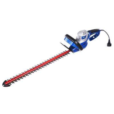 24 in. 4.6 Amp Electric Hedge Trimmer with Dual Action Laser Cut Blades