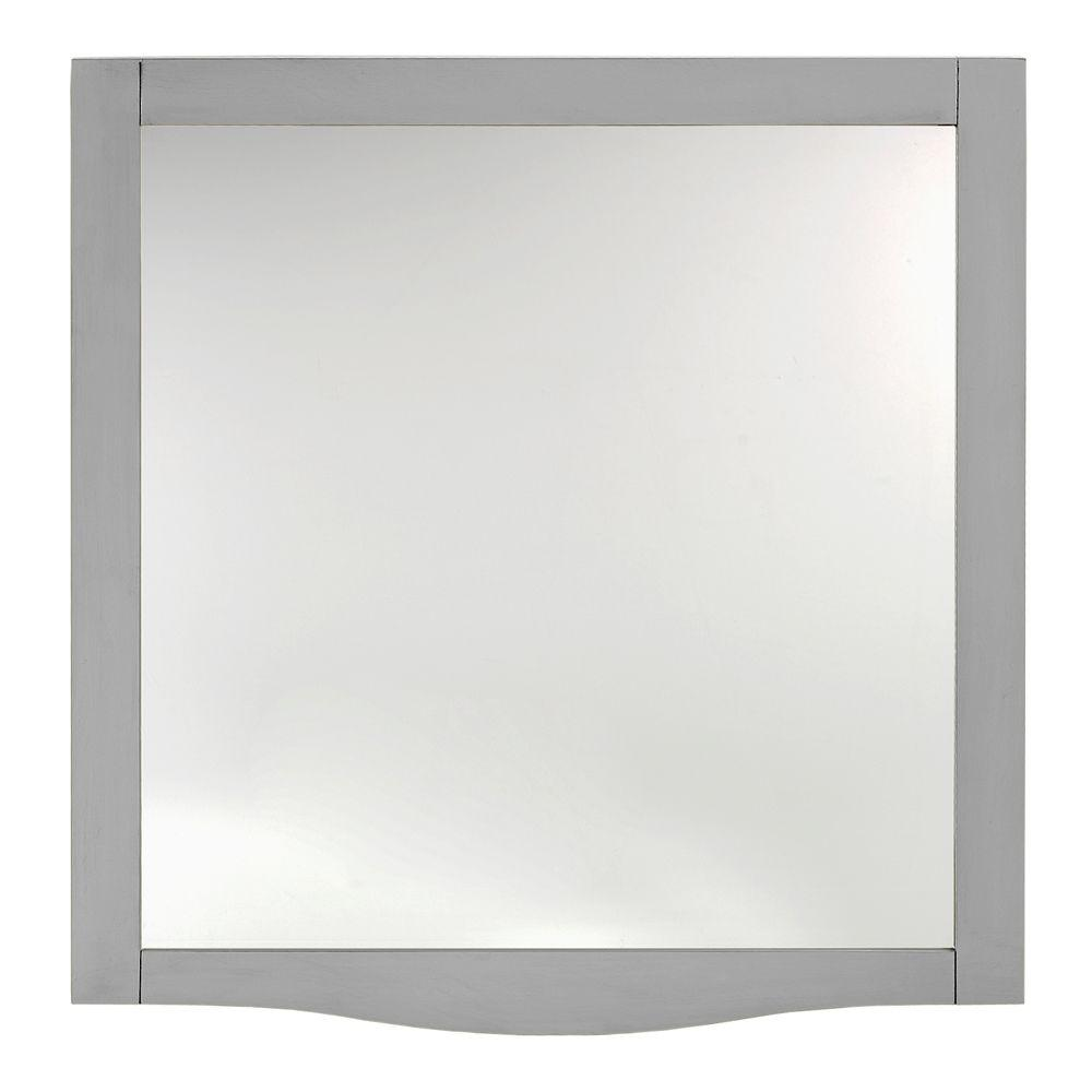 Home Decorators Collection Savoy 32 In L X 30 In W Mirror In Antique Grey 0322710280 The