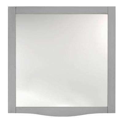 Savoy 32 in. L x 30 in. W Mirror in Antique Grey