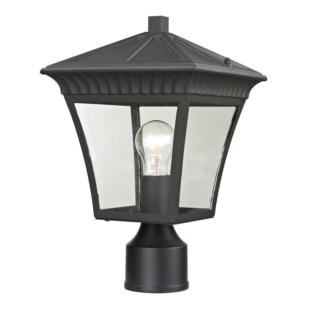 Ridgewood 1-Light Outdoor Matte Textured Black Post Lantern