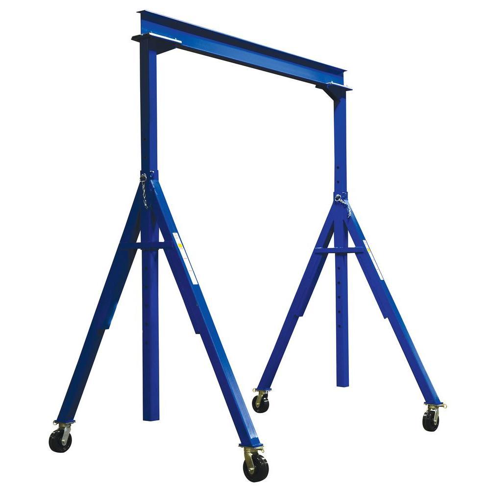 Vestil 6,000 lb. 10 ft. x 16 ft. Adjustable Height Steel Gantry Crane by Vestil
