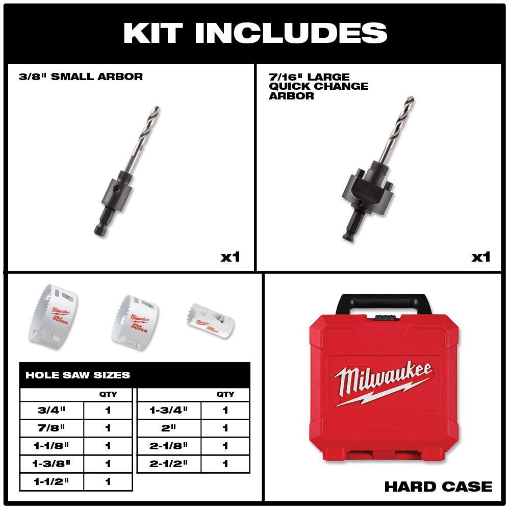 "14pc Bi-Metal All Purpose Hole Saw Set 3//4/"" 2-1//2/"" Electricians Plumbers Kit"