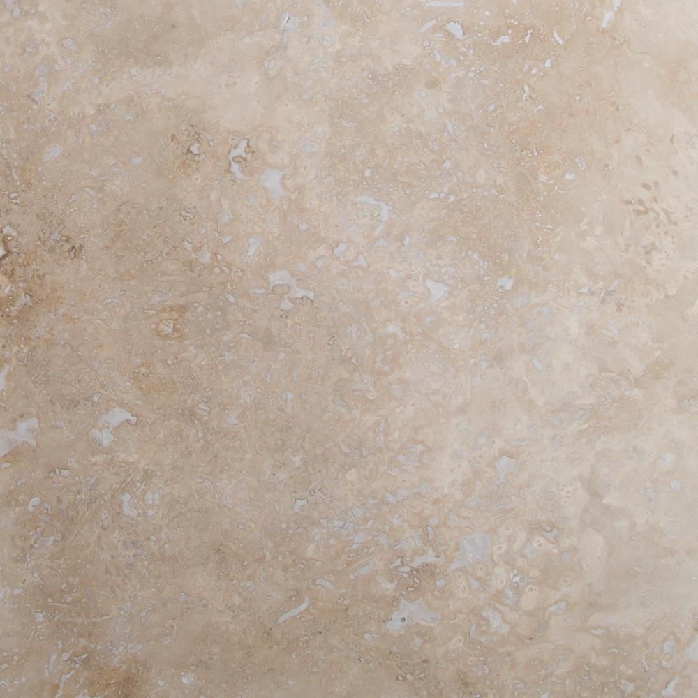 MSI Castle 18 in. x 18 in. Honed Travertine Floor and Wall Tile (9 ...