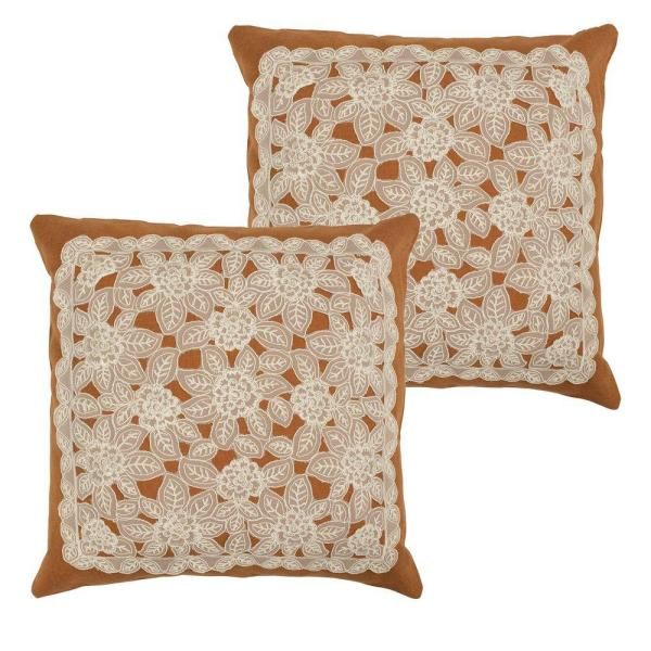 Gretta Rust Standard Pillow Cover (Set of 2)