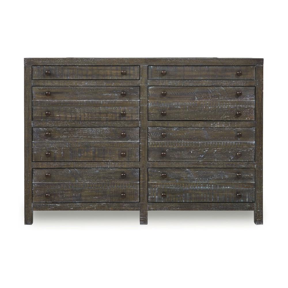 Townsend 8-Drawer Gunmetal Dresser (42 in. H x 60 in. W x 18 in. D)