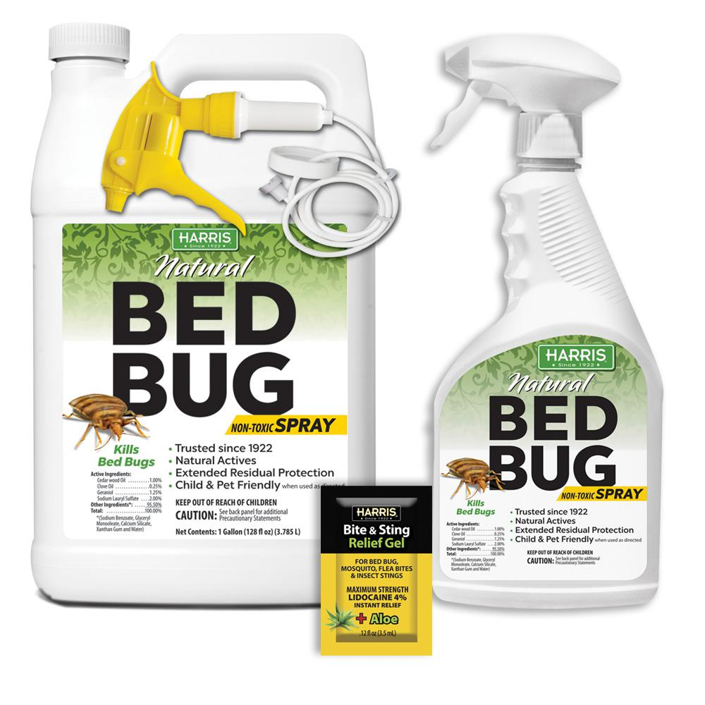 Harris 128 Oz And 22 Oz Natural Bed Bug Killer Spray Value Pack