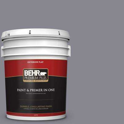 5 gal. #MQ5-3 Old Amethyst Flat Exterior Paint and Primer in One