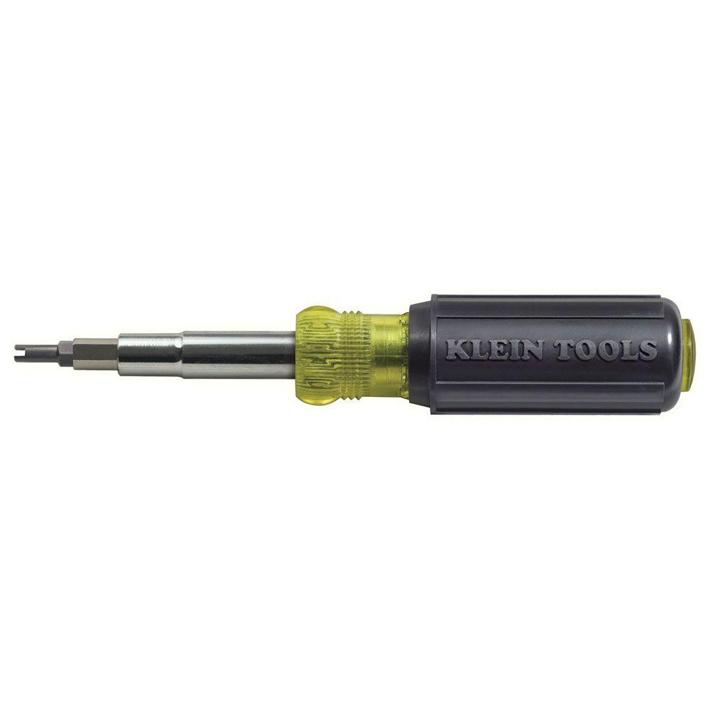 11-in-1 Schrader Valve Core Tool Screwdriver/Nut Driver