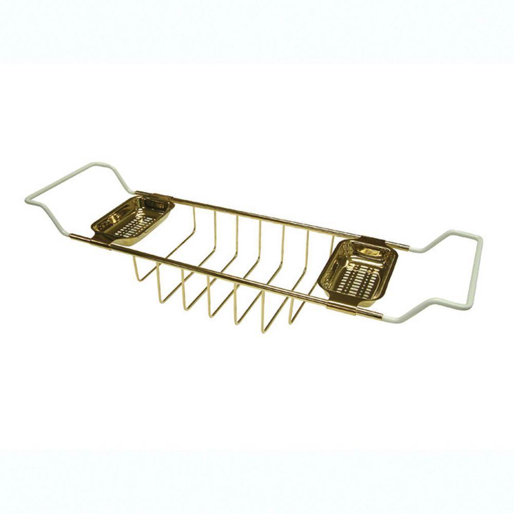 Claw Foot Bathtub Caddy in Polished Brass