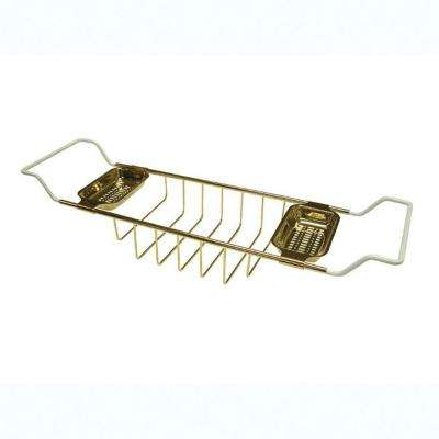 Claw Foot Bathtub Caddy in Polished Brass