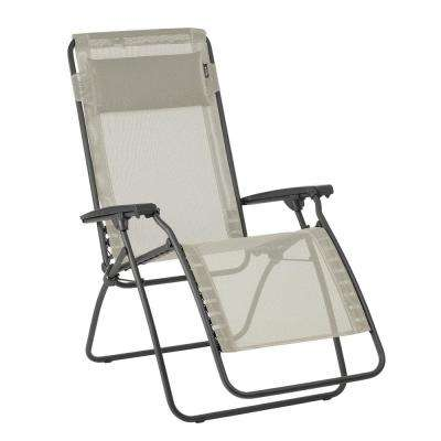 Cool R Clip In Seigle Beige Color With Steel Frame Folding Zero Gravity Reclining Lawn Chair Squirreltailoven Fun Painted Chair Ideas Images Squirreltailovenorg