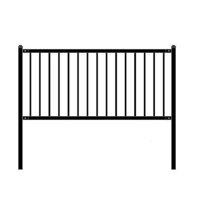 Lyon Style 3 ft. x 6 ft. Black Unassembled Steel Fence Panel