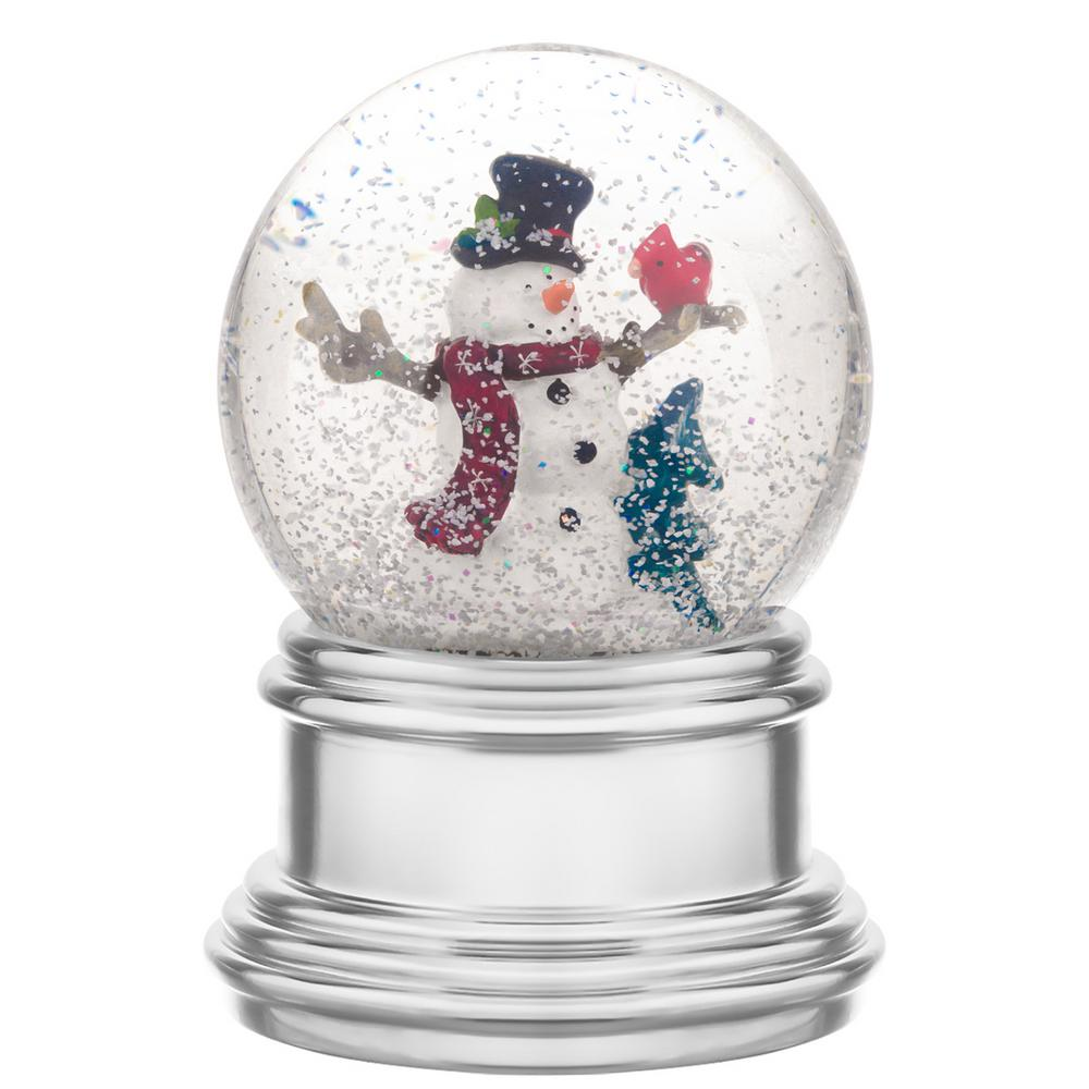 Haute Decor 6 7 In Christmas Snowburst Animated Snowman Snow Globe With Built In Timer Dcsg0002 The Home Depot