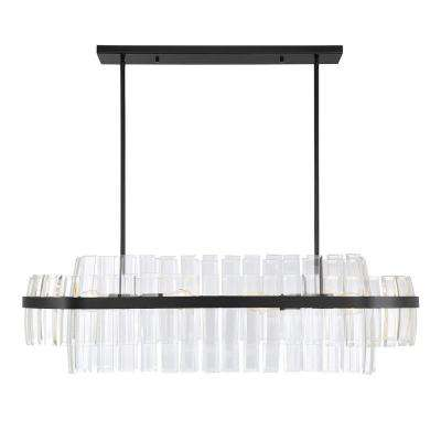 8-Light English Bronze Chandelier with Clear Glass