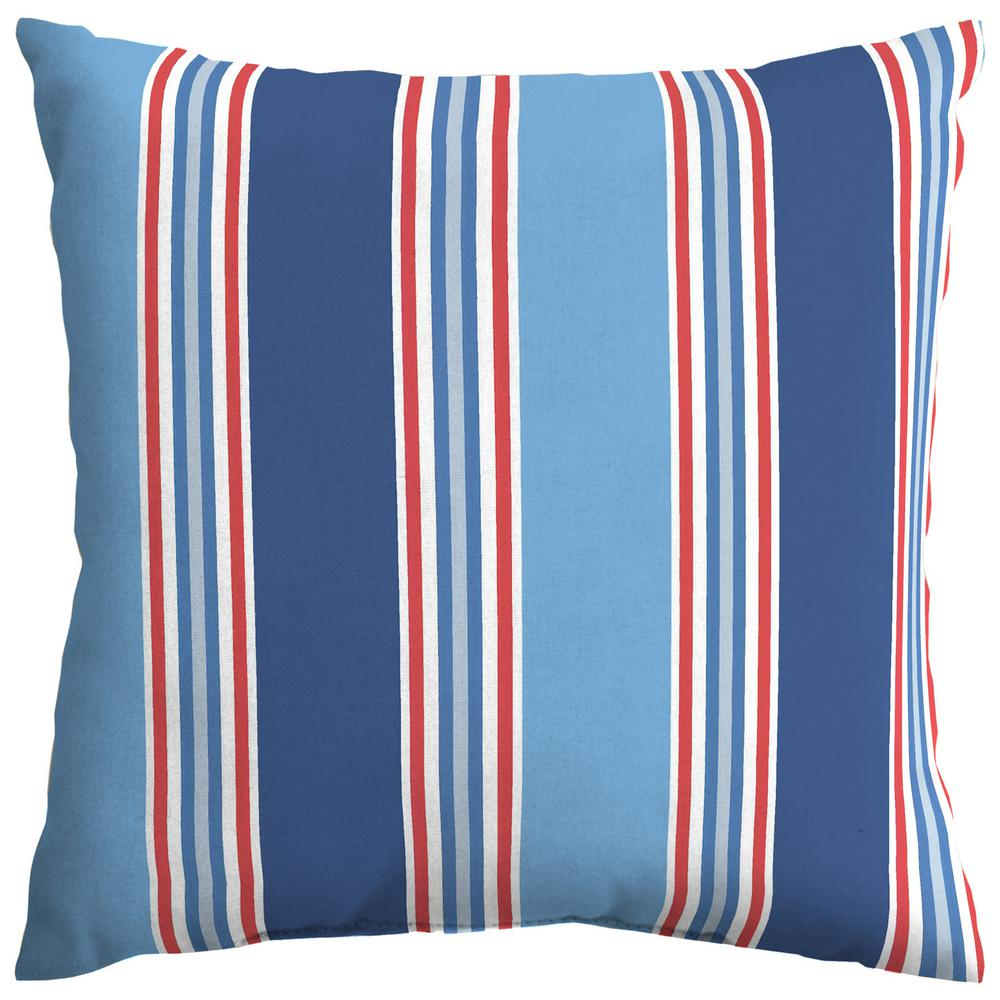 Hampton Bay Mariner Stripe Square Outdoor Throw Pillow Th0h546b 9d4