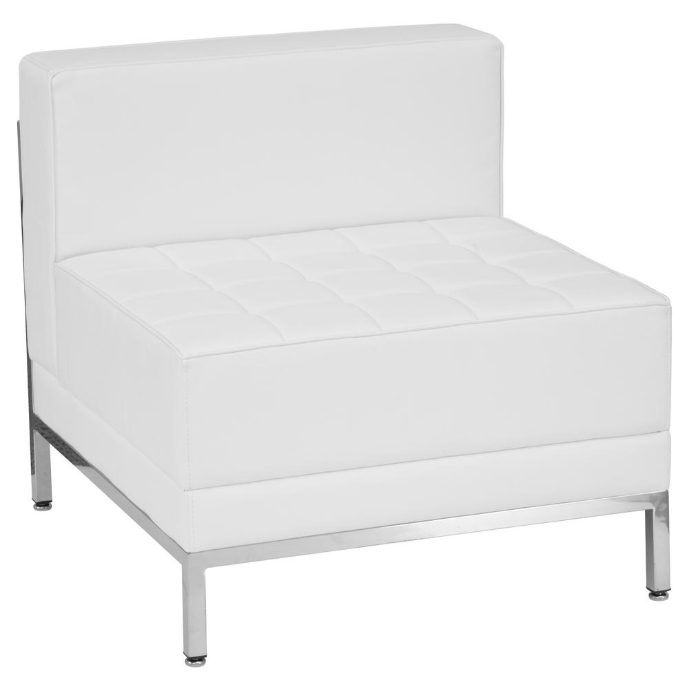 Genial Flash Furniture Hercules Imagination Series Contemporary White Leather  Middle Chair