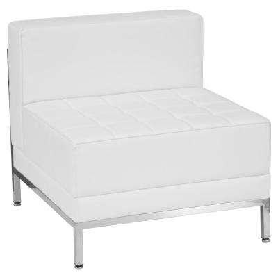 Hercules Imagination Series Contemporary White Leather Middle Chair