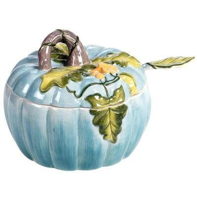 Harvest Gatherings 112 oz. Multicolored Earthenware Pumpkin Tureen With Ladle