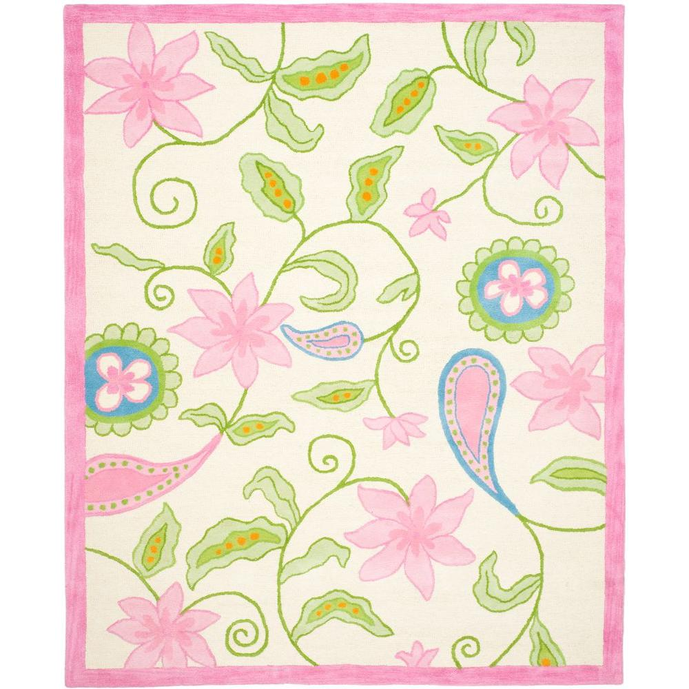 Safavieh Kids Ivory/Pink 6 ft. x 9 ft. Area Rug