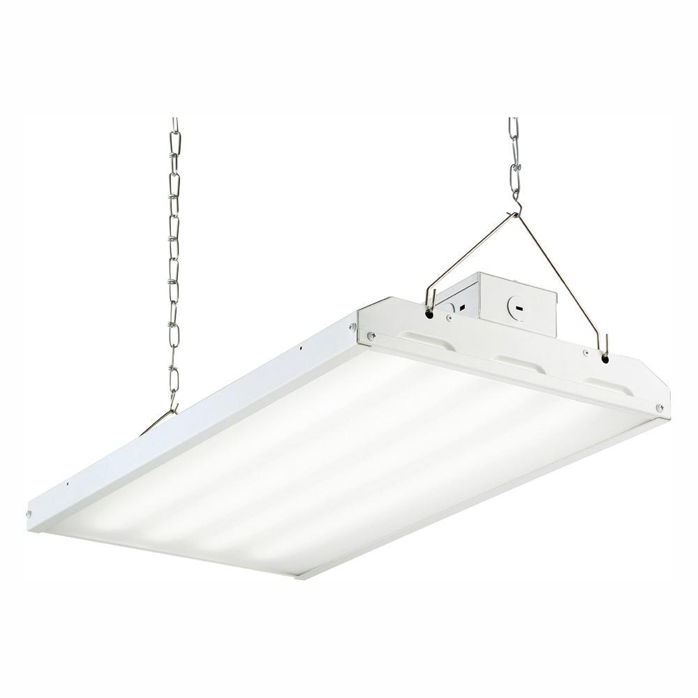 90-Watt 2 ft. White Integrated LED Backlit High Bay Hanging Light with 11400 Lumens 5000K