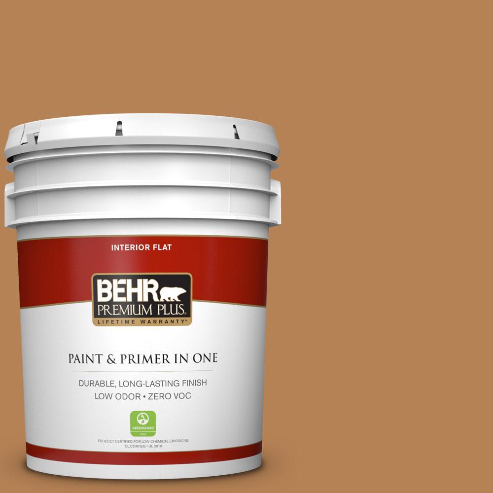 5 gal. #S250-5 Roasted Cashew Zero VOC Flat Interior Paint