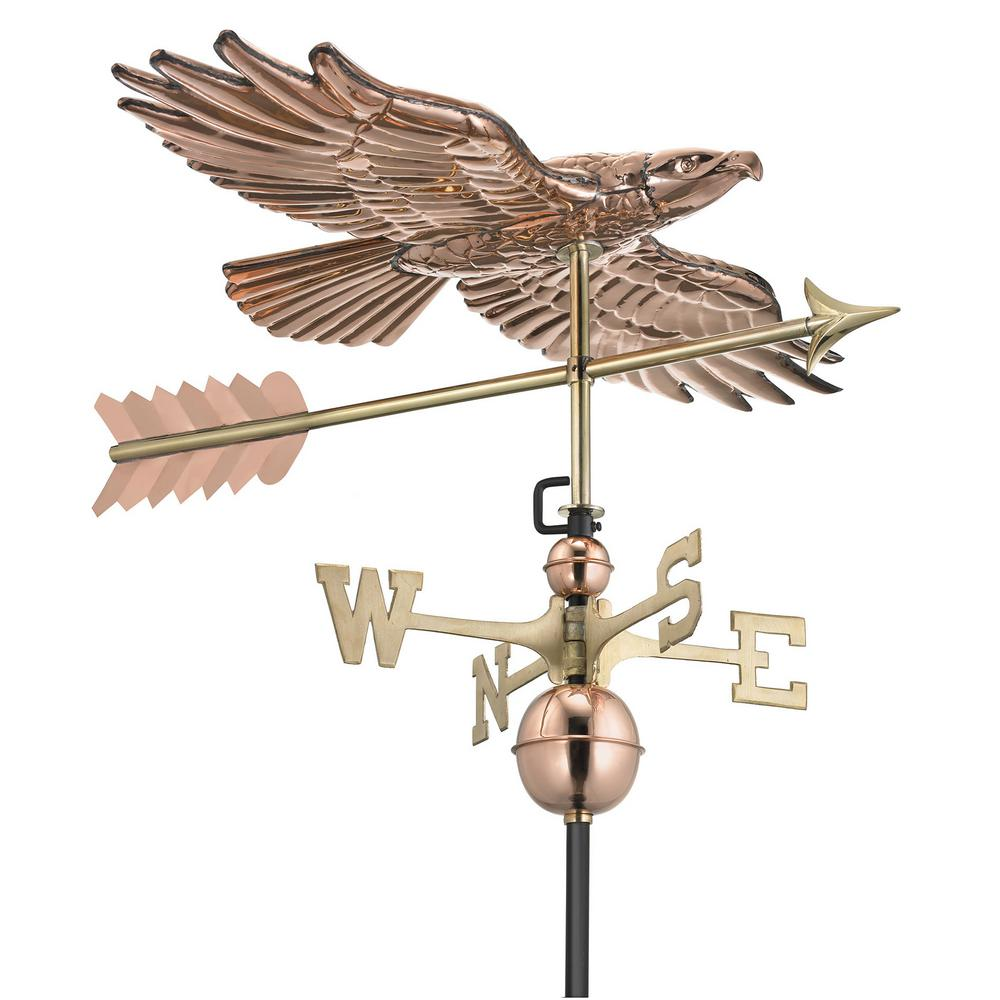 Good Directions Soaring Hawk Weathervane - Pure Copper